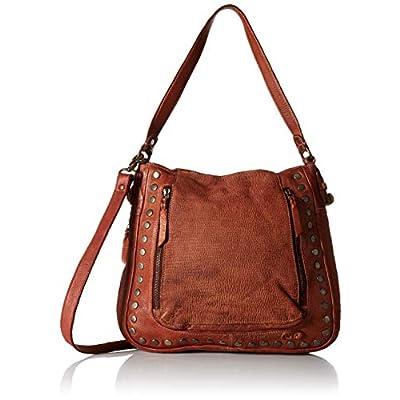 Bed Stu Moore Studded Shoulder Bag in Cognac Rustic | Oxfords
