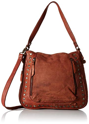 - Bed Stu Moore Studded Shoulder Bag in Cognac Rustic