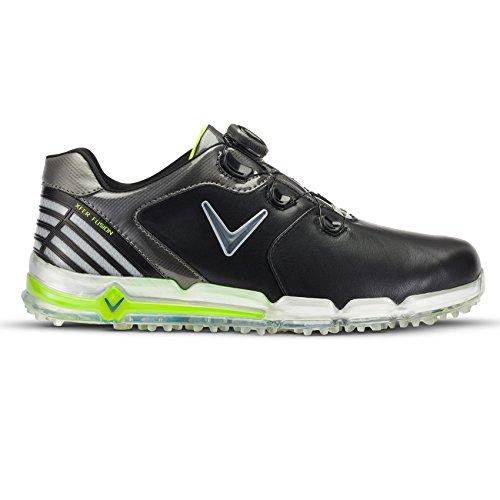 Callaway , Herren Golfschuhe 43 EU schwarz (Black / Grey / Green)