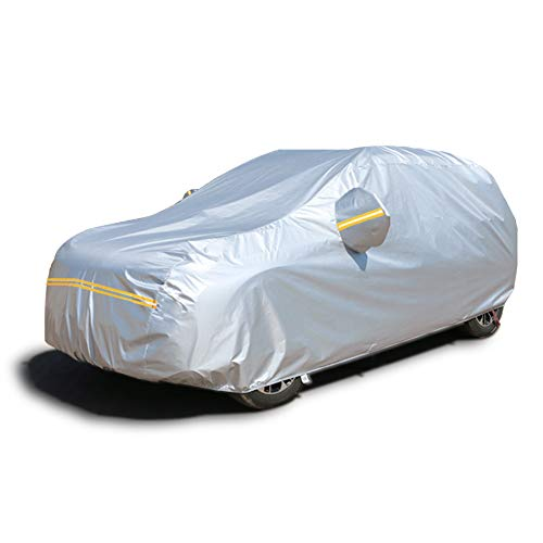 Sunproof Waterproof Car - Car Covers Waterproof,SUV Car Covers for 6 Layers All Weather Outdoor Snow UV Protection with Zipper A6-YXL(Fits SUV 193