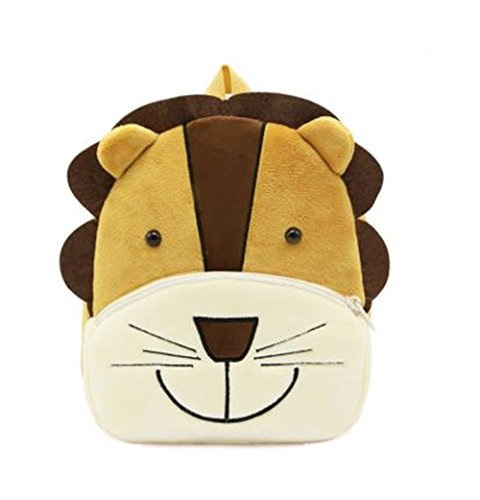 Cute Toddler Backpack Toddler Bag Plush Animal Cartoon Mini Travel Bag for Baby Girl Boy 1-6 Years (Lion)