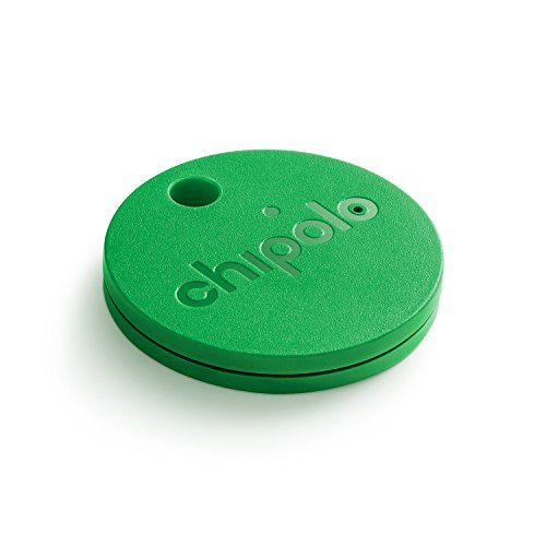 CHIPOLO CLASSIC (GEN 3) - Bluetooth Tracking Device to Easily Find Your Lost Keys, Wallet, Phone, Bag, Backpack, Etc. Loud Speaker Alert (92 dB). Replaceable Battery (Lasts 9+ Months). (Green)