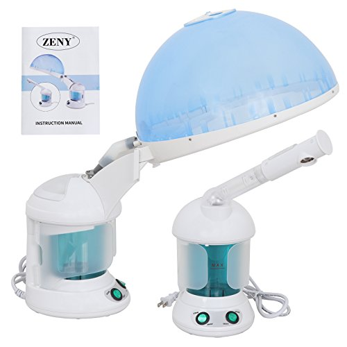 Zeny Desktop Portable 2 In 1 Hair and Facial Zone Steamer w/Bonnet Hood Salon Home Use