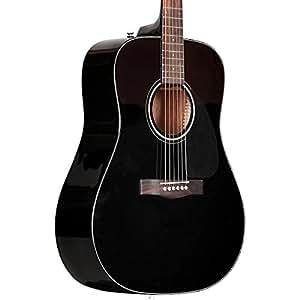 fender beginner acoustic guitar cd 60 black dreadnought with case musical. Black Bedroom Furniture Sets. Home Design Ideas