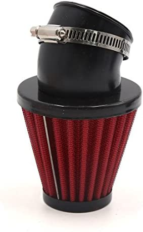 uxcell 46mm Inner Dia Carbon Fiber Motorcycle Air Intake Filter w Adjustable Clamp
