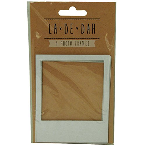 Journalling Cards (La De Dah Scrapbook Creative Diary Journalling White Card Photo Frames x 4)