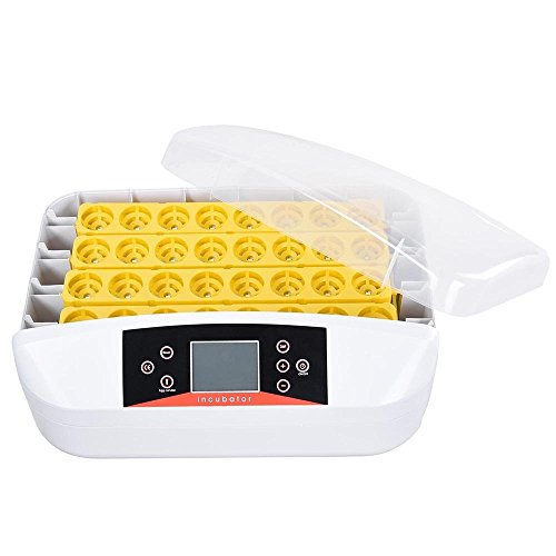 AMPERSAND SHOPS 32-Egg Capacity Digital Incubator / Hatcher / Turner with LED Candler and Temperature and Humidity Display by AMPERSAND SHOPS