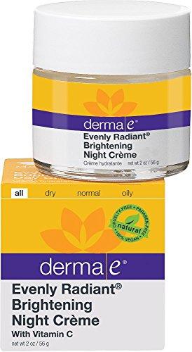 derma e Evenly Radiant Brightening Night Crme with Vitamin C Nighttime Moisturizer, 2 oz