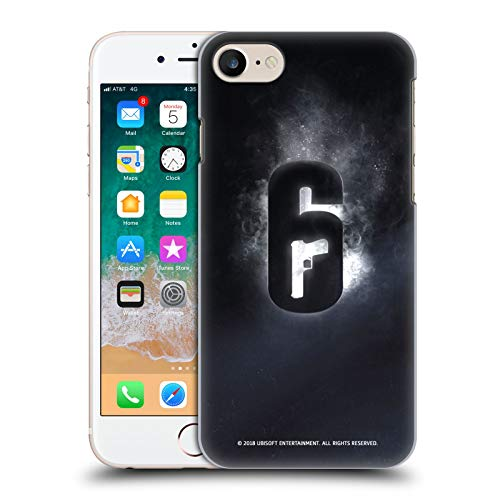 Official Tom Clancy's Rainbow Six Siege Glow Logos Hard Back Case Compatible for iPhone 7 / iPhone 8