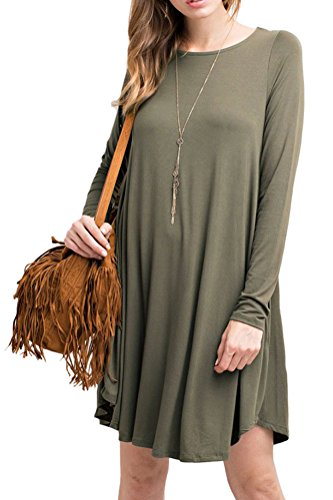 iconic-luxe-womens-bamboo-long-sleeve-trapeze-dress-small-olive