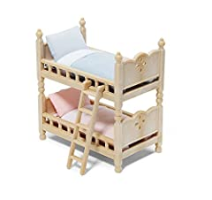 Here are 2 perfect cozy Stack 'n Play Beds for your Calico Critters. Beds can be positioned in fun ways. Stack them like bunk beds or simply use them as 2 separate beds. Critters sold separately.