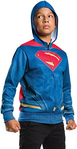 (Rubie's Costume Boys Justice League Superman Hoodie Costume, Medium, Multicolor)