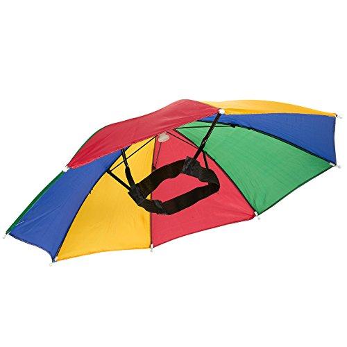 Umbrella Hat Waterproof Hands Free Umbrella Rain Hat Multi-Colored- 20.25 (Umbrella Girl Costume)