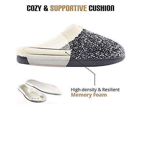 H&RB Zapatos Acogedores De Invierno De La Casa De Invierno,Gray,46/47: Amazon.es: Hogar