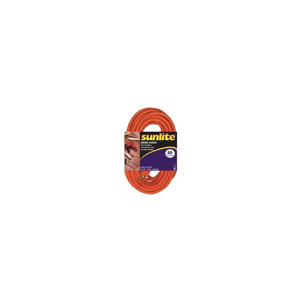 Sunlite 04205   50 Orange Heavy Duty Extension Cord