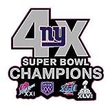 GIANTS CHAMPIONS PIN SUPERBOWL 4X CHAMPS PIN 2017-18 NFL SUPER BOWL 52
