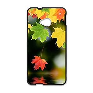 Personalized Creative Cell Phone Case For HTC M7,glam maple leaves colorful scene