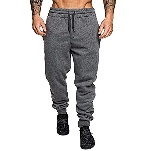 VANVENE Mens Jogger Pants Fleece Sweatpants Jogging Tracksuit Bottoms Trousers M-3XL