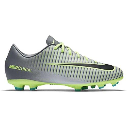 Nike Kids Mercurial Vapor XI FG Pure Platinum/Black/Ghost Green Shoes - 10.5C