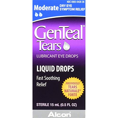 (GenTeal Lubricant Eye Drops Moderate - .5 FL OZ, Pack of 2)