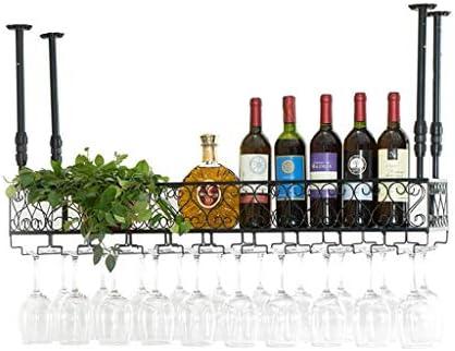 Soportes Para Bandejas De Metal Montado En La Pared Colgador De Vino Para Colgar En La Pared Estantes Para Vino En El Techo Altura Ajustable, Estante Para Almacenamiento En ( Size : 100*30cm )