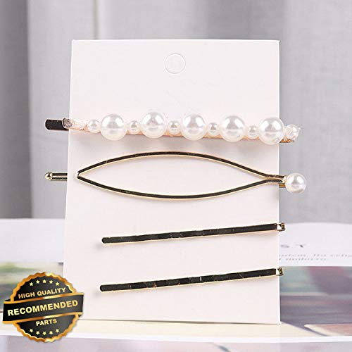 Gatton Premium New Fashion Pearl PomPom Snap Barrette Clip Hairpin Women Wedding Hair Accessories | Style HRCL-M182012995 ()