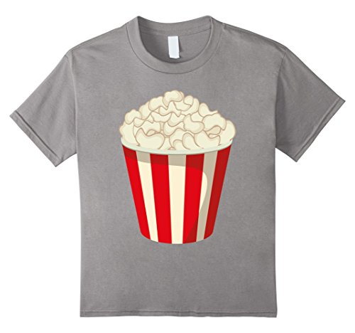Kids Funny Popcorn Halloween Snack T-Shirt Last Minute Costume 10 (Cute Last Minute Halloween Costumes For Work)
