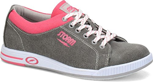 Storm Meadow Bowling Shoes, Grey/Pink, 8.5