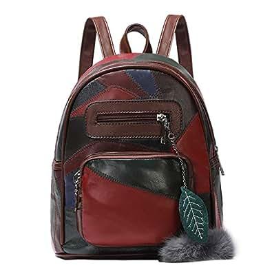 Tefamore Bolsos Mochila Mujer Bolsos de Hombro Salvaje Bolsos Fiesta Mujer Bolso de Viaje Color Patchwork Casual Backpack