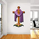 WOW Interiors PVC Jesus Cross Wall Stickers
