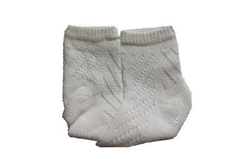 - 9-18 Month, 1PR Organic Cotton Pointelle Bootie Sock, 80% Organic Cotton, 20% Nylon