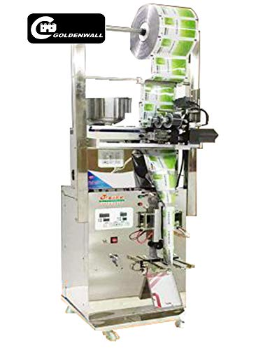 CGOLDENWALL 1-50g Automatic Weighing and Filling Packaging Machine Powder/Granule/Herb/Teabag Packing Machine Measuring Packaging Machine (Cursor Positioning with Ribbon Coding Machine)