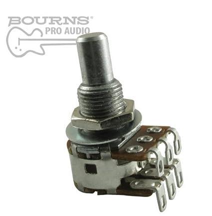 Bourns Mini Blend-Balance Guitar Potentiometer, 500K Dual MN Taper / Center  Detent, Solid Shaft