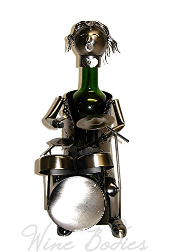 Drum Metal Wine Bottle Holder Hand Made By Wine Bpdies