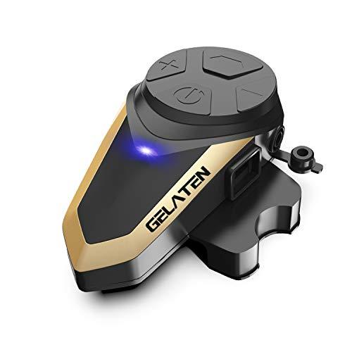 Gelaten Motorcycle Bluetooth Helmet Headset BT-S3 Wireless Interphone Helmet Communication Systems for 2 or 3 Riders (FM Radio/Handsfree/Range-1000M)&1 pack ()