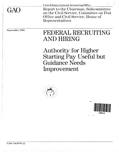 16 best new recruiting books to read in 2018 bookauthority book cover of united states general accounting office gao federal recruiting and hiring malvernweather Images