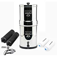 Royal Berkey Stainless Steel Water Filtration System w/STAINLESS STEEL SPIGOT / 2 Black Filters / 2 Fluoride Filters (3 Gallon (Royal Berkey))