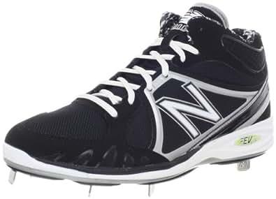 New Balance Men's MB3000 Mid-cut Baseball Cleat,Black/Silver,5.5 B US