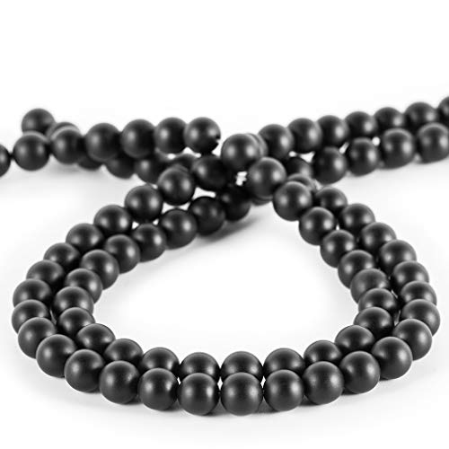 6mm Onyx Beads,MOKYYus Natural Black Matte Onyx Beads, Onyx Beads for Making DIY Gifts, Necklaces, Bracelets, Yoga Bracelets.