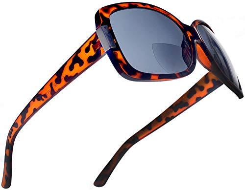 Women's BiFocal Sun Readers Fashion Sunglasses - Jackie O French Riviera SunReaders Style in Tortoise ()
