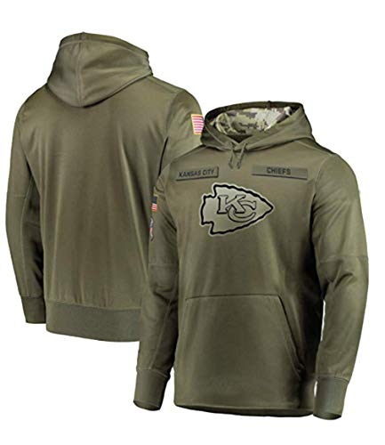 (Beverly Wray Kansas City Chiefs Apparel Salute to Service Sideline Therma Performance Pullover Hoodie)