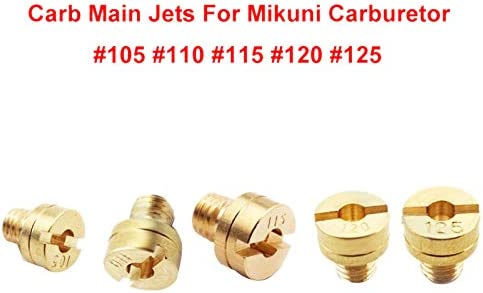 Vaorwne 5Mm Large Round Carb Main Jets for Mikuni Carburetor VM22 VM24 VM26 125Cc 150Cc 200Cc 250Cc Dirt Pit Bike