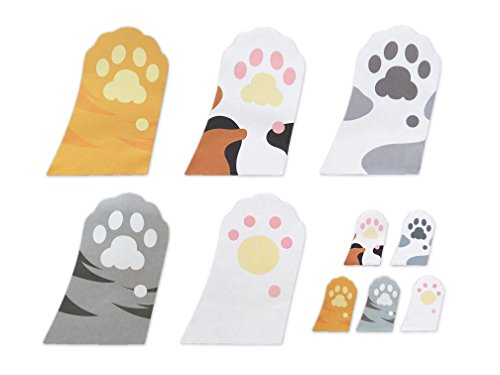 Cute Cats Paw Shaped Self-Stick Notes, Scratch Pads, 10 Pads/Pack, 30 Sheets/Pad (Cats Paw)