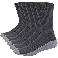 JOYNÉE Men's 6 Pack Athletic Cushion Performance Running Crew Socks