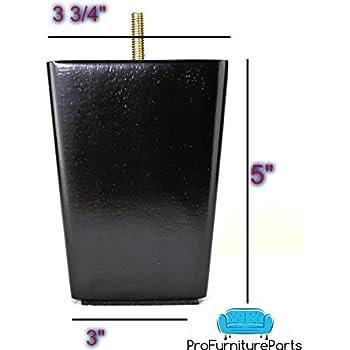 Amazon.com: IKEA KIVIK Sustitución Plástico Negro Pierna ...