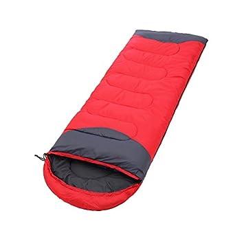 WEINAS® Saco de Dormir Momia Bolsa de Dormir Impermeable Portátil para Acampada al Aire Libre Camping Senderismo Mochilero, Color Rojo y Gris: Amazon.es: ...