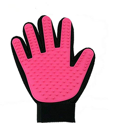 Pet Grooming Glove,Pet Deshedding Glove,Soft Gentle Pet Bath Massage Mitt,Silicone Pet Dematting Hair Removal Brush Glove Comb, For Long and Short Haired Dogs Cats Bunnies{one for $10,two for $15} by petbob