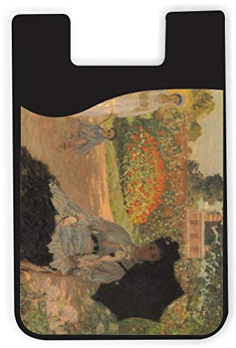 TysoOLDPhoneC Claude Monet Art Camille in The Garden with Jean Phone Card Holder Adhesive Card Sleeve Card Pouch, iPhone Card on The Back of Phone and case of LG,Piexl,HTC,BLU,Sony,2 PCS