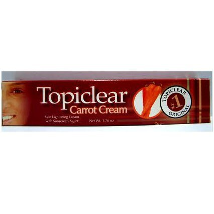 (Topiclear Carrot Cream Skin lightening Cream 1.76 oz.)