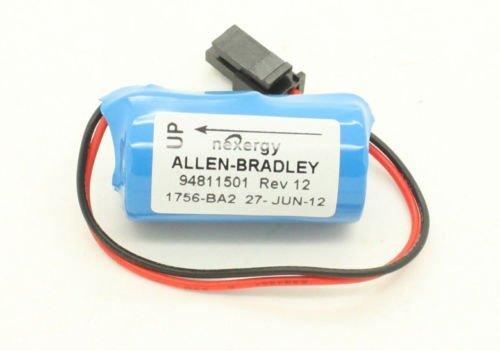 PLC Battery Replacement for Allen Bradley 1756-BA2 BR2/3A-AB 1745-B1 3.0V 1200mAh - Pack of 2